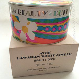 NIB! 1970s VTG Avon Powder Hawaiian White Ginger